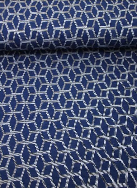Sharon in blue - rekbare jacquard