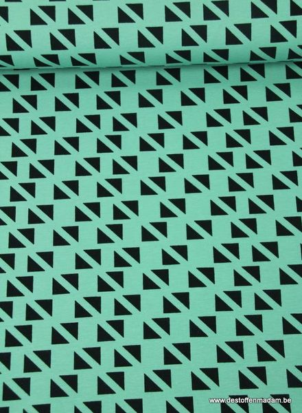Swafing triangles  mint - jersey