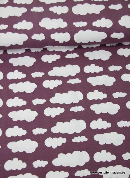Wolkjes lila -jersey