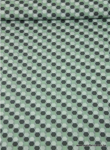 hexagon mint - cotton