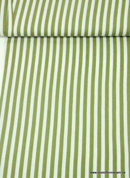 khaki vertical striped - viscose