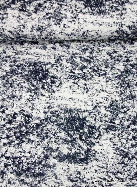 navy marble - french terry