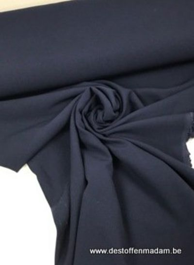 wintercrepe deluxe stretch - navy blue