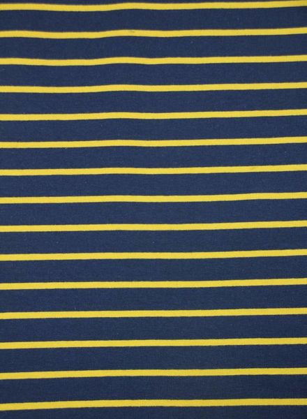 navy and ocre stripes - french terry