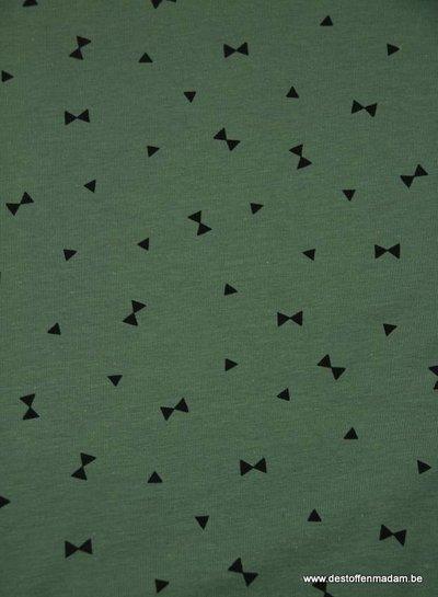 khaki strikjes-  tricot