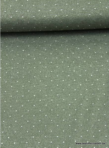 glitter viscose tricot met pins - khaki