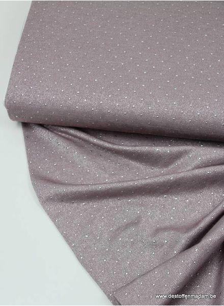 glitter viscose tricot met pins - roze