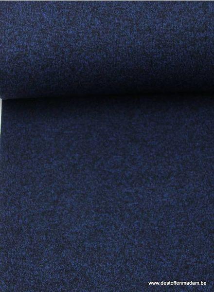 marineblauwe  gebreide sweater met teddy