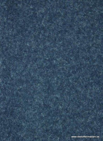 marineblauw melee - mantelstof tussenseizoen