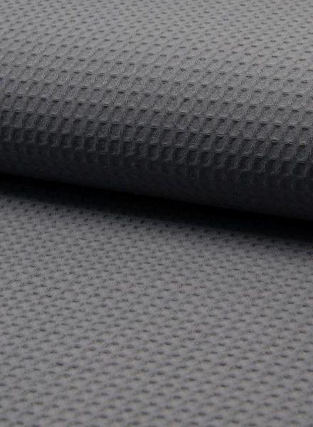 dark grey - waffle cotton