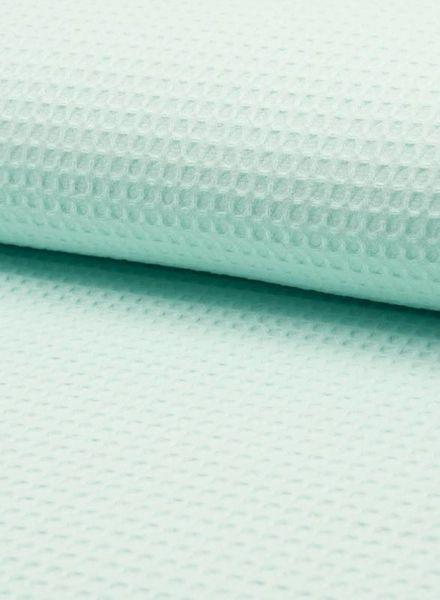 mint blue - waffel cotton