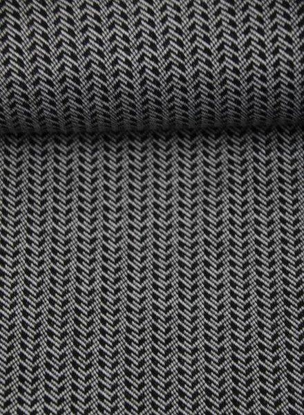 zwarte pijltjes - jacquard jersey