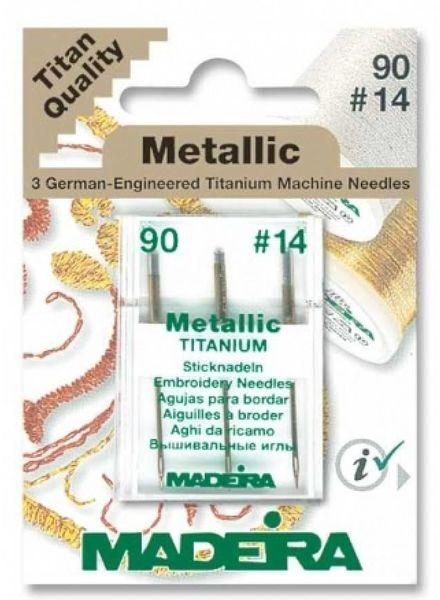 metallic needle