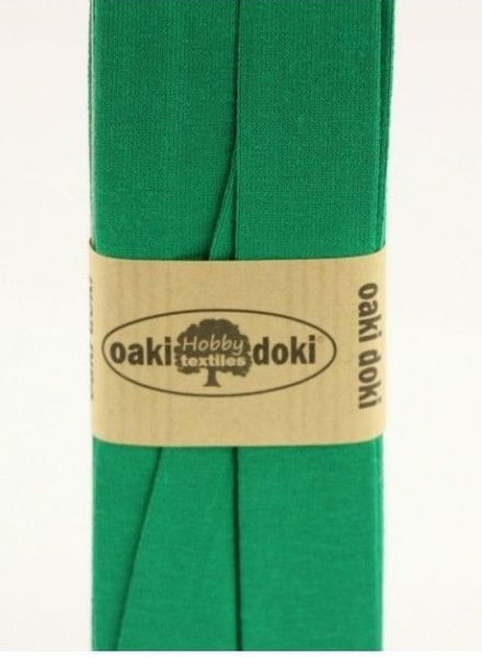grass green  -  biais jersey  3 meter