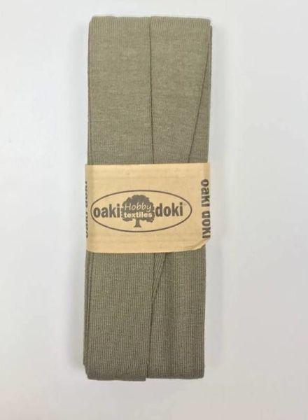 licht khaki groen - biais tricot 3 meter