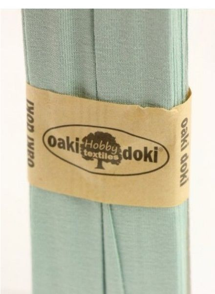 dusty mint -  biais tricot 3 meter
