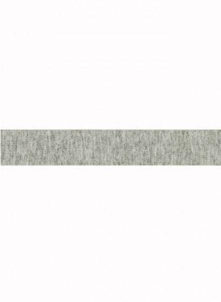 light grey melee - jersey biais 3 meter