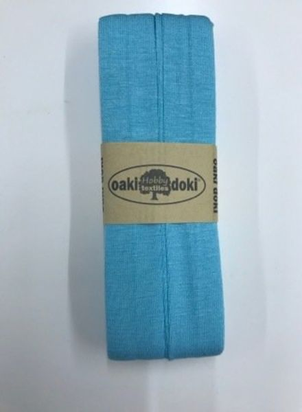 mintblauw - tricot biais 3 meter