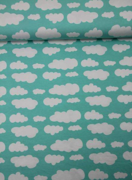 Swafing wolken blauw - tricot
