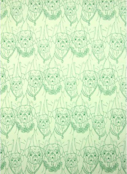pug ville vert - tricot