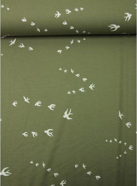khaki zwaluwen - interlock