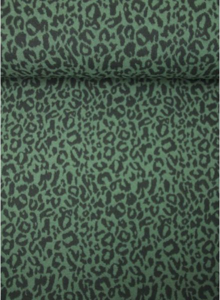 khaki leopard - knitted fabric