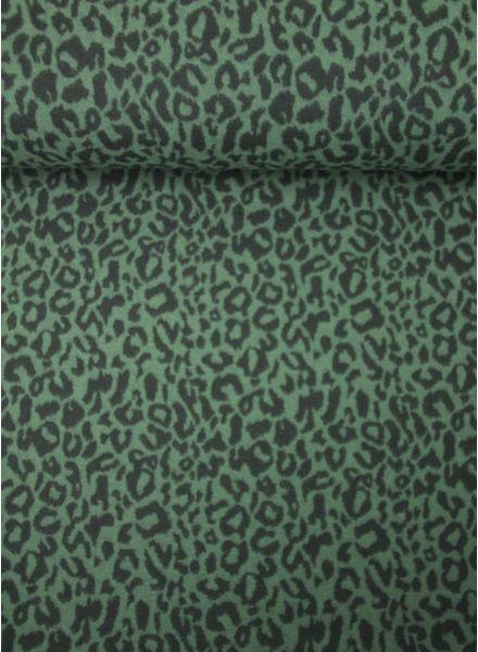 khaki luipaard - gebreid stofje
