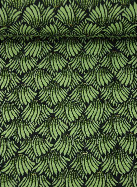 spring scallops - woven jacquard