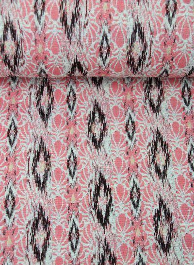 pink spring breeze - geweven jacquard