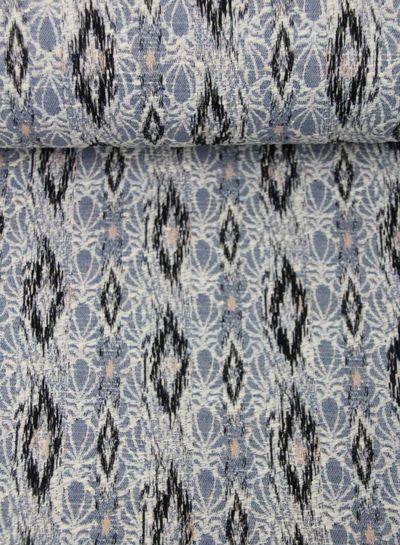 blue spring breeze -  geweven jacquard