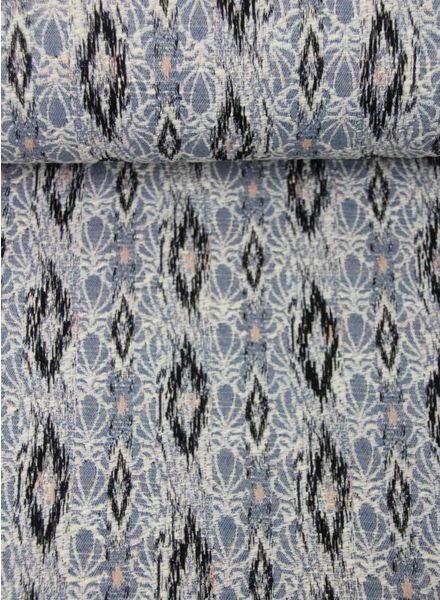 blue spring breeze -  geweven jacquard