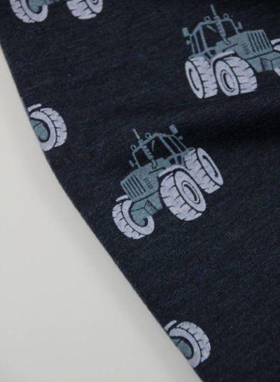 traktor marineblauw - french terry