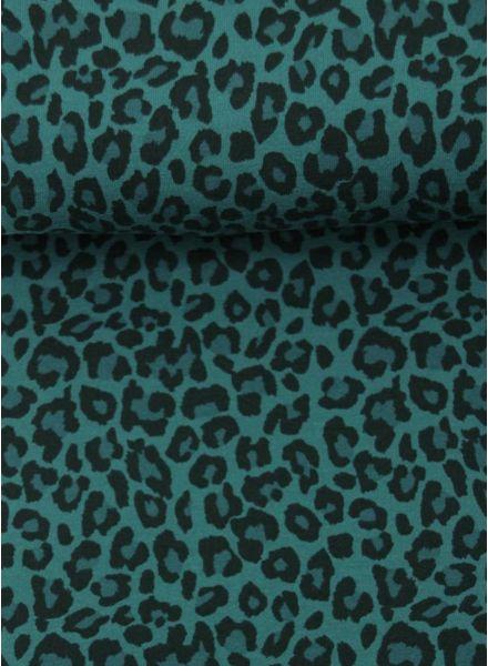 leopard green - jersey