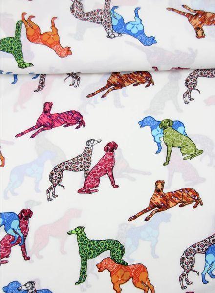 kleurrijke hondjes - crêpe
