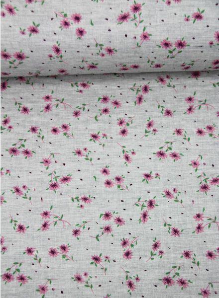 roze bloemetjes - double gauze