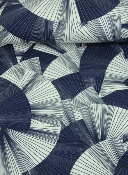 blauwe waaier -viscose tricot