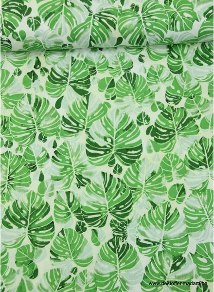 Timeless Treasures Fabrics monstera cotton