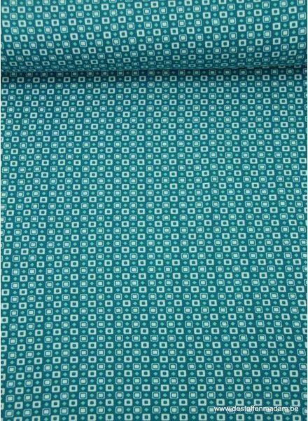 turquoise geometric - tricot