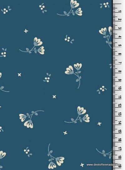 denimblue flower sweater