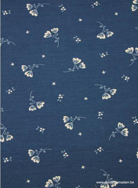bloemetjes sweater blauw