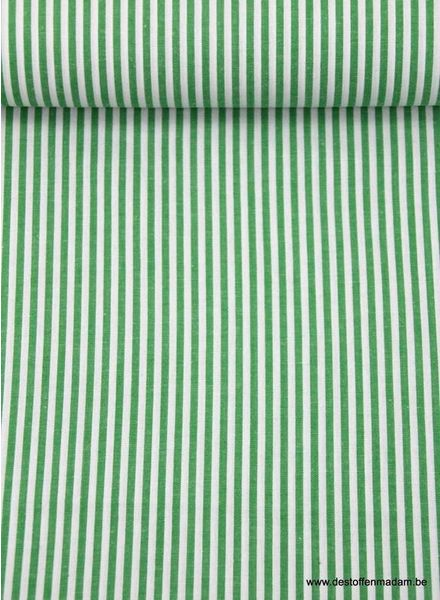 green verticaly striped cotton