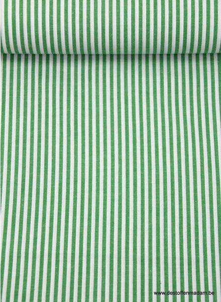 groene verticaal gestreepte katoen