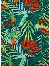 jungle leaves canvas
