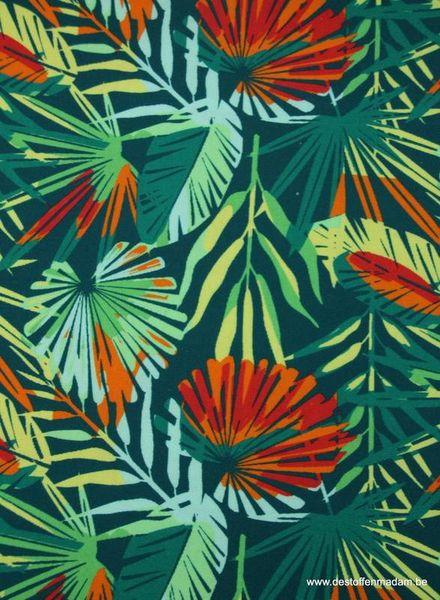 jungle bladeren canvas