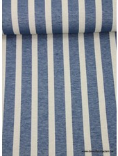 striped blue sturdy fabric
