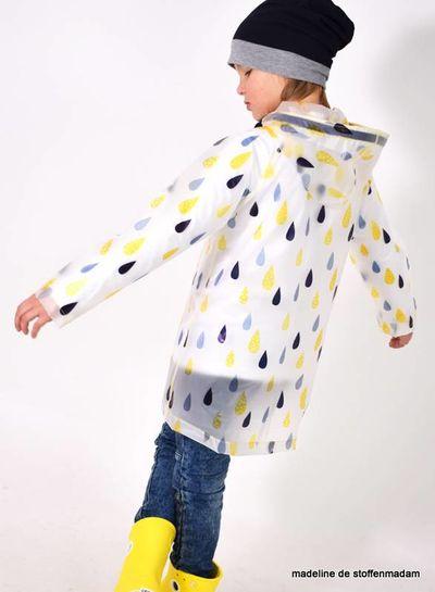 drops transparant raincoat fabric