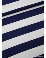 marine brede strepen 3 cm - viscose tricot