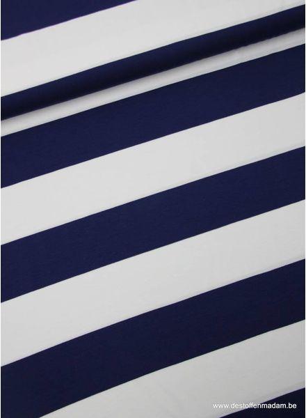 marine brede strepen 5 cm - viscose tricot