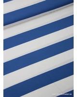 kobalt brede strepen 3 cm - viscose tricot
