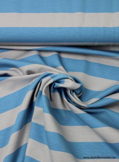 light blue large stripes - jersey